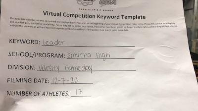 Smyrna High School [Game Day Varsity] 2020 UCA Bluegrass Virtual Regional