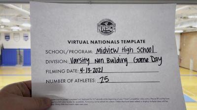 Midview High School [Varsity Non Building Game Day Virtual Finals] 2021 UCA National High School Cheerleading Championship