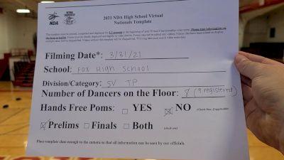 Fox High School [Virtual Varsity- Team Performance Prelims] 2021 NDA High School National Championship