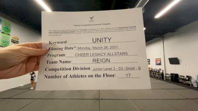 Cheer Legacy Allstars - Reign [L3 Junior - D2 - Small] 2021 Mid Atlantic Virtual Championship