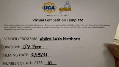 Walled Lake Northern High School [Junior Varsity - Pom] 2021 UDA Spirit of the Midwest Virtual Challenge