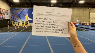 Spirit Central - Black Tigers [L2 Junior - Non-Building] 2021 Athletic Championships: Virtual DI & DII