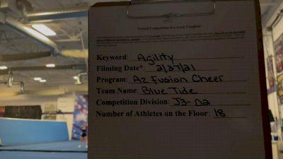 Arizona Fusion Cheer - Blue Tide [All Star L3 Junior - D2 - Small - B] 2021 Varsity All Star Winter Virtual Competition Series: Event III