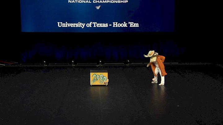 University of Texas - Hook 'Em [2021 Mascot Finals] 2021 UCA & UDA College Cheerleading & Dance Team National Championship