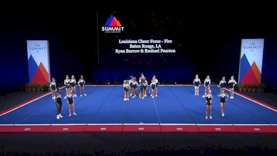 Louisiana Cheer Force - Fire [2021 L4 U17 Coed Prelims] 2021 The Summit