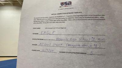 Mesquite [HS Group Stunt Advanced - All Female] 2020 USA Arizona & Utah Virtual Regional