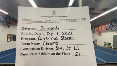 California Storm - Chrome [L1 Junior - Small] 2021 Varsity All Star Winter Virtual Competition Series: Event II