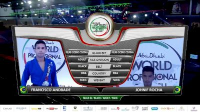 Jonas Andrade vs Johnif Rocha 2020 Abu Dhabi World Pro