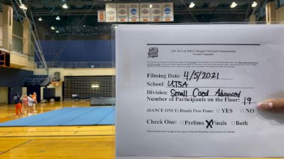 UTSA [Virtual Advanced Small Coed Open Finals] 2021 NCA & NDA Collegiate Cheer & Dance Championship