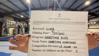 Hangtime Elite Cheer & Tumble - Hangtime Hurricanes [L3 Junior] 2021 The Regional Summit Virtual Championships