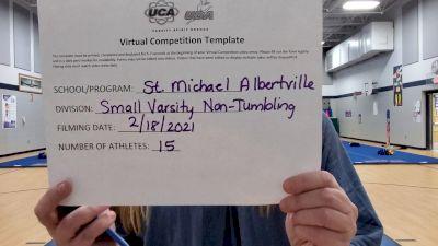 St Michael Albertville High School [Small Varsity Non Tumbling] 2021 UCA February Virtual Challenge