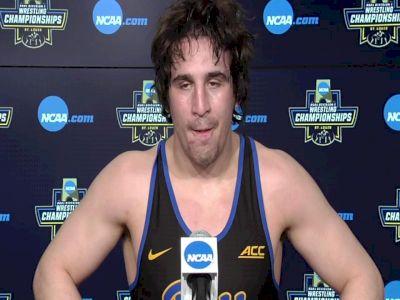 Nino Bonaccorsi (Pitt) after 197-pound semifinal win at 2021 NCAA Championships