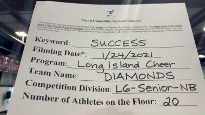 Long Island Cheer - Diamond [L6 Senior Non Building] 2021 Athletic Championships: Virtual DI & DII