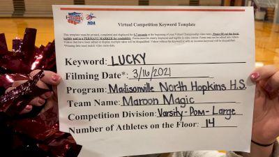 Madisonville North Hopkins High School - Pom [Varsity - Pom] 2021 NCA & NDA Virtual March Championship