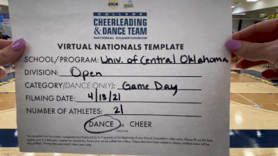 University of Central Oklahoma [Virtual Open Game Day - Dance Semi Finals] 2021 UCA & UDA College Cheerleading & Dance Team National Championship
