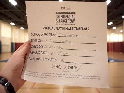 University of MassachusettsAmherst [Virtual All-Girl Division IA Semi Finals] 2021 UCA & UDA College Cheerleading & Dance Team National Championship