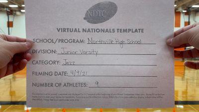 Northville High School [Junior Varsity - Jazz Virtual Finals] 2021 UDA National Dance Team Championship