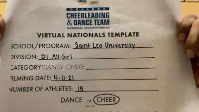 Saint Leo University [All-Girl Division I Virtual Finals] 2021 UCA & UDA College Cheerleading & Dance Team National Championship