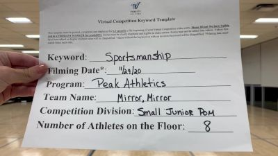 Peak Athletics - Mirror, Mirror [All Star Junior - Pom] Varsity All Star Virtual Competition Series: Event VI