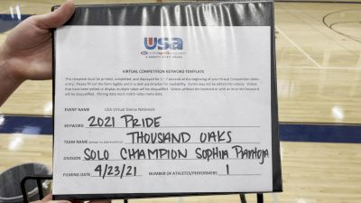Thousand Oaks High School [Open - Solo Finals] 2021 USA Spirit & Dance Virtual National Championships