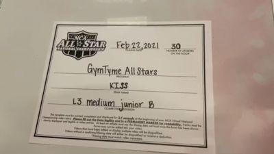 Gym Tyme - Kiss [L3 Junior - Medium - B] 2021 NCA All-Star Virtual National Championship