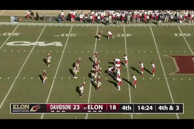 Jones Gets The Stop On Fourth Down For Elon