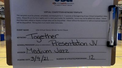 Presentation High School [Jazz Varsity - Medium] 2021 USA Virtual Dance Winter Classic
