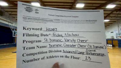 St Dominic High School [Advanced Large Game Performance] 2021 NCA & NDA Virtual February Championship