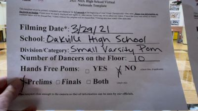 Oakville High School [Small Varsity - Pom Virtual Prelims] 2021 NDA High School National Championship