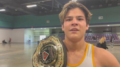 M.J. Gaitan Toppled #1 Levi Haines For Belt
