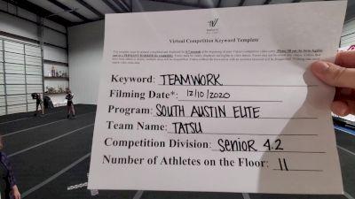 South Austin Elite Cheer - Tatsu [Level 4.2 L4.2 Senior - Small] Varsity All Star Virtual Competition Series: Event VII