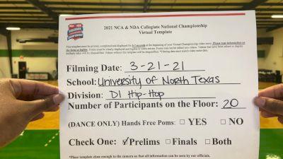 University of North Texas [Hip Hop Division I Virtual Prelims] 2021 NCA & NDA Collegiate Cheer & Dance Championship