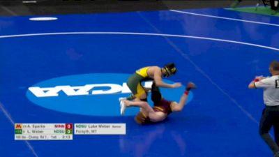 165 r64, Luke Weber, NDSU vs Andrew Sparks, Minnesota