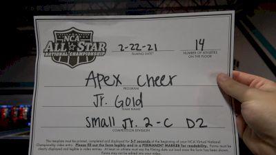 Apex Cheer - Jr. Gold [L2 Junior - D2 - Small - C] 2021 NCA All-Star Virtual National Championship