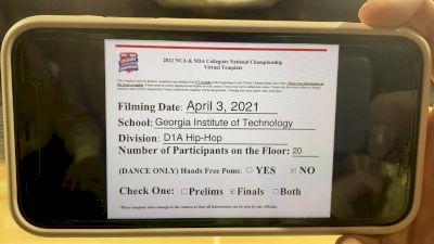 Georgia Tech [Hip Hop Division I Virtual Finals] 2021 NCA & NDA Collegiate Cheer & Dance Championship