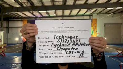 Pyramid Athletics - Cleopatra [L5 Senior - Non-Building] 2021 Varsity All Star Winter Virtual Competition Series: Event IV