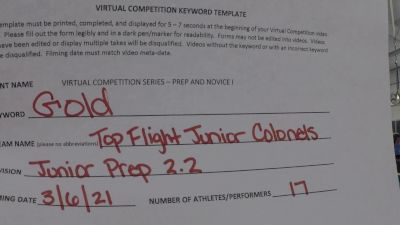 Top Flight All Stars [L2.2 Junior - PREP] 2021 Varsity Virtual Competition Series - Prep & Novice I