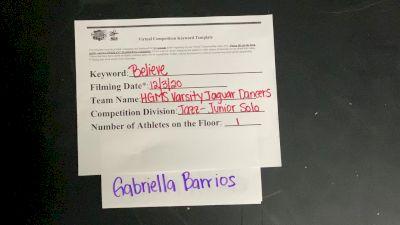 Hialeah Gardens Middle School Gabriella B. [Junior - Solo] 2020 NDA December Virtual Championship