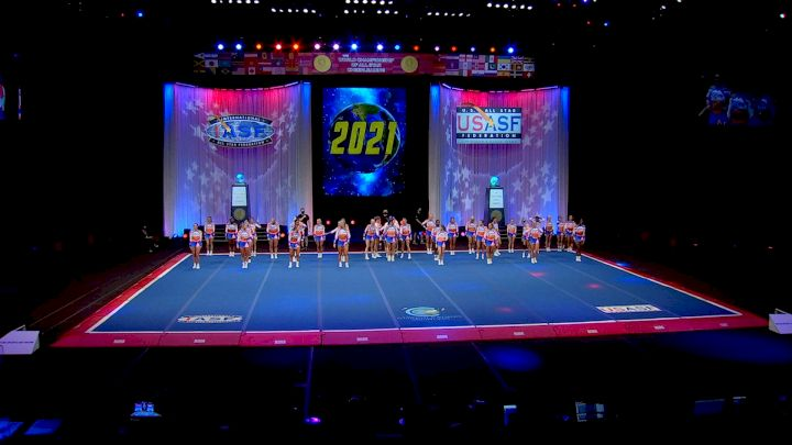The Stingray Allstars - Marietta - Orange [2021 L6 Senior Large All Girl Finals] 2021 The Cheerleading Worlds