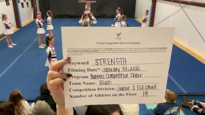 Hunters Competitive Cheer - Blush [L1 Junior - D2 - Small] 2021 Varsity All Star Winter Virtual Competition Series: Event II