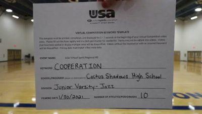 Cactus Shadows High School [Junior Varsity - Jazz] 2021USA Virtual Spirit Regional #2 and All Star Dance Regional #1