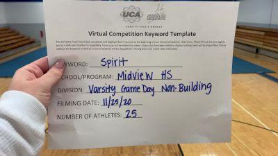 Midview High School [Game Day - Varsity Non Building] 2020 UCA Miami Valley Virtual Regional