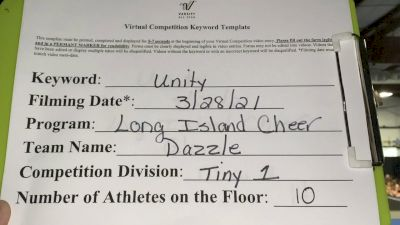 Long Island Cheer - Dazzle [L1 Tiny] 2021 Mid Atlantic Virtual Championship