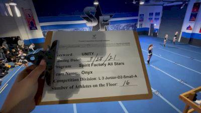 Spirit Factory - Onyx [L3 Junior - D2 - Small] 2021 Mid Atlantic Virtual Championship