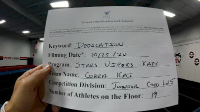 Stars Vipers - Katy - Cobra Kai [L5 Junior] Varsity All Star Virtual Competition Series: Event II