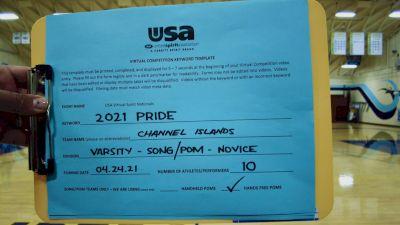 Channel Islands High School [Varsity - Song/Pom - Novice Finals] 2021 USA Spirit & Dance Virtual National Championships