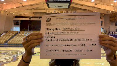 James Madison University [Virtual Jazz Division I Prelims] 2021 NCA & NDA Collegiate Cheer & Dance Championship
