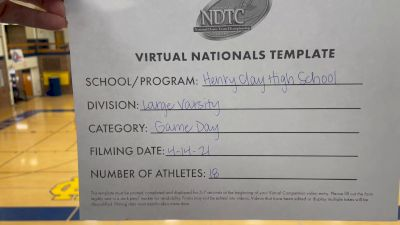 Henry Clay High School [Large Varsity - Game Day Virtual Finals] 2021 UDA National Dance Team Championship