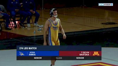 174lbs Match: Devin Skatzka, Minnesota vs Josh Annis, CSU Bakersfield