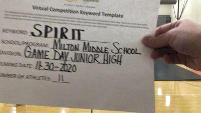 Milton High School [Small Junior High] 2020 UCA Allegheny Virtual Regional